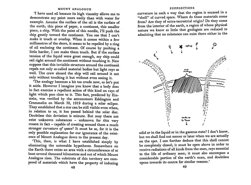 Selected pages of René Daumal's Mount Analogue